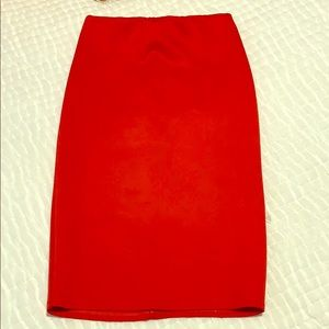 ASOS Red scuba pencil skirt size 4